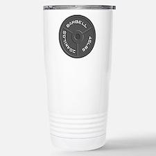 Clock Barbell45lb Travel Mug