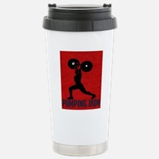 pumping_iron_12by14_red Travel Mug