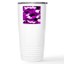 Purple Camo Thermos Mug