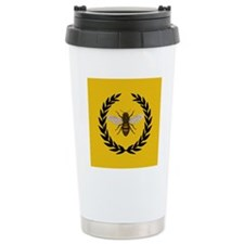Stylized Bee_N_Honeycom Travel Coffee Mug