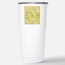 Theater-Mask-clockLARGE Travel Mug