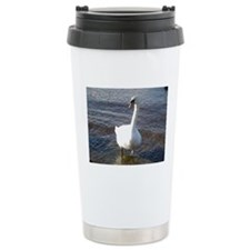 Beautiful White Swan Travel Mug