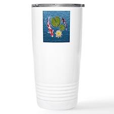 Koi Clock Travel Coffee Mug