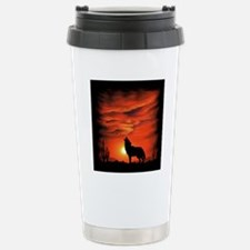 Coyote Howling Stainless Steel Travel Mug