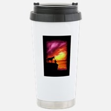 Cowboy and Horse Stainless Steel Travel Mug