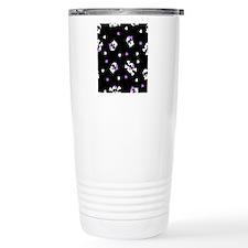 Black and Purple Cute S Travel Mug