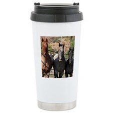 3 Roan Horses Travel Mug