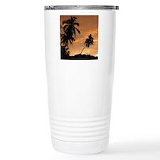 Palm Trees at Sunset Travel Coffee Mug