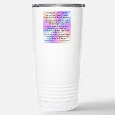 45_45LivingInLightSquar Stainless Steel Travel Mug