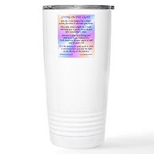 45_45LivingInLightSquar Travel Mug