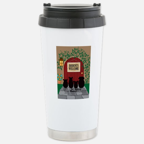 welcomerodents12 Stainless Steel Travel Mug