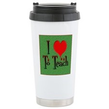 Love To Teach backgroun Travel Mug