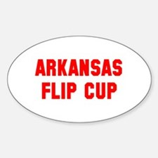 Arkansas Flip Cup Oval Decal