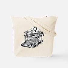 Q Antique Typewriter Monogram Tote Bag