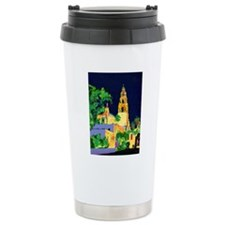 balboa park at night 9x Travel Coffee Mug