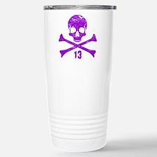 crossbones distressed p Travel Mug