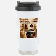 Geometric Grunge Travel Mug