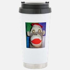 Sock monkey with pearl  Stainless Steel Travel Mug