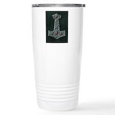 Thors Hammer X Silver Travel Mug
