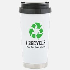 I recycle Stainless Steel Travel Mug