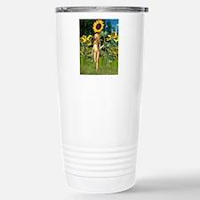 Sunflower Fairy with Su Travel Mug