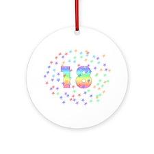 18th Birthday Pastel Stars Ornament (Round)