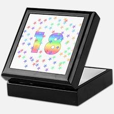 18th Birthday Pastel Stars Keepsake Box