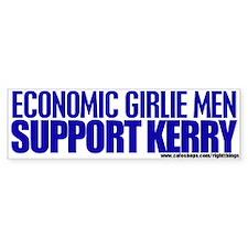 Economic Girlie Men Vote Kerry Bumper Bumper Sticker