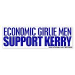 Economic Girlie Men Vote Kerry Bumper Sticker