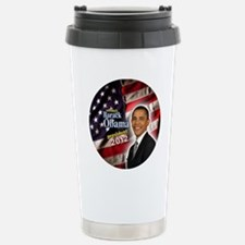 obama button 2012 Stainless Steel Travel Mug
