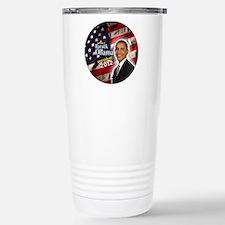 obama button 2012 Travel Mug
