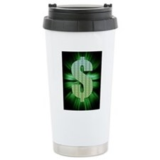 Dollar Sign Travel Mug