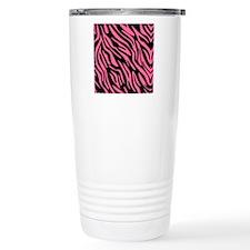 zebrapatterenff6699blac Travel Mug