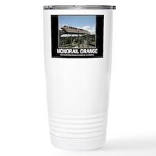 monorail ORANGE poster  Travel Mug