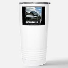 monorail blue poster co Travel Mug