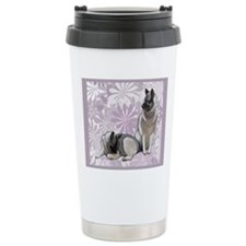 elkies in the garden bl Travel Mug