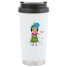 girl with hat-Rayna Thermos Mug