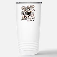 baseballplayerbrown Stainless Steel Travel Mug