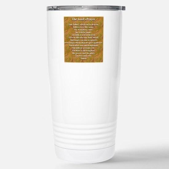Lords Prayer_white on w Stainless Steel Travel Mug