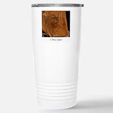 Crying horse miss you Travel Mug