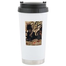 degas at the cafe Thermos Mug