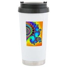 Colorful Coastline Travel Mug