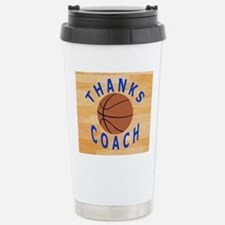 Thanks Basketball Coach Stainless Steel Travel Mug