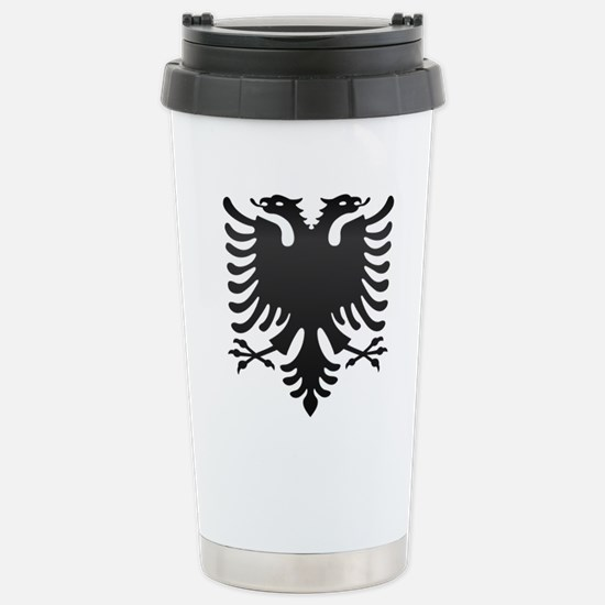 Albanian Eagle Carbon Stainless Steel Travel Mug