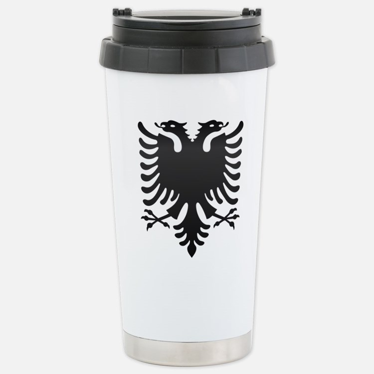 Albanian Eagle Carbon Travel Mug
