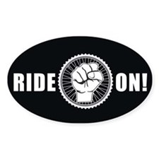 Ride On Oval Decal