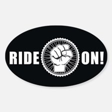 Ride On Oval Stickers