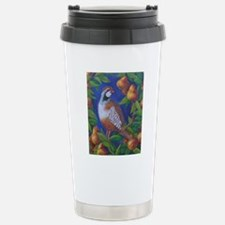 Partridge in a Pear Tre Stainless Steel Travel Mug