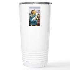 Madonna of the Yarn Unw Travel Mug