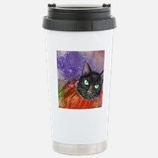 Halloween Kitty in a Pu Travel Mug